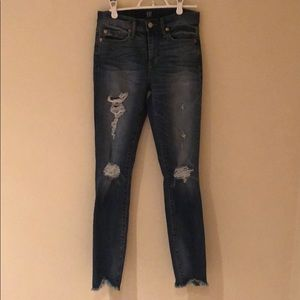 Gap high rise skinny jeans